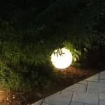 s.LUCE Globe / Garten Kugelleuchte Ø 40 cm / Dekolampe Aussen