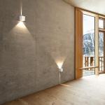 LICHT-TREND Baleno Quadi LED Wand-Aussenleuchte Up&Down Weiss Wandlampe