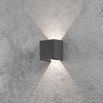 Konstsmide 7959-370 Cremona LED Aussen-Wandleuchte individuell verstellbarer Lichtaustritt Anthrazit klares Acrylglas