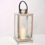 Holländer 240 3502 Laterne Lanterna Grande Aluminium-Glas Silber-Schwarz