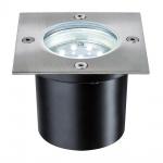 Paulmann Special EBL Set Boden eckig LED 3x1, 2W 6VA 230/12V 100mm Edelstahl/Edelstahl /