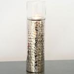 Holländer 208 3515 Windlicht Grazioso Gross Aluminium-Glas Silber-Klar