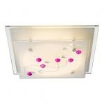 Ballerina Deckenleuchte LED quadratisch 400lm Weiß Glas Satiniert