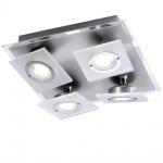 Paul Neuhaus 8030-95 Rotator Deckenlampe / 4 x 3, 3W LED schwenkbar / 27x27 cm / Alu-matt