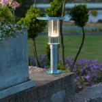Konstsmide 701-320 Mode LED Sockelleuchte / 700lm, 3000K / galvanisierter Stahl, Polycarbonat Glas