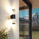 Eglo 94818 LED Aussen-Wandleuchte Penalva 1 2 x 3, 7W Schwarz