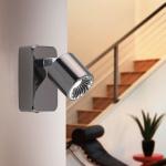 Eglo 94721 Maurano LED Spot 1 x 5 W Aluguss Nickel-Schwarz Chrom Kunststoff Chrom