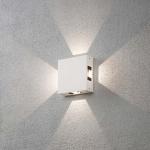 Konstsmide 7984-250 Cremona LED Aussen-Wandleuchte 4er-Lichtstrahl einstellbar Weiß