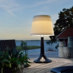 Konstsmide 7109-752 Assisi Solar LED Tischlampe / Schwarz