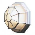 Konstsmide 7091-250 Roof Aussen-Wandleuchte / Weiß, gefrostetes Acrylglas
