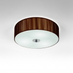 s.LUCE Twine M Deckenleuchte mit Stoffschirm / Deckenlampe Braun