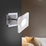 LeuchtenDirekt 11881-55 Kovi LED Wandleuchte + Kippschalter 5, 50W 3000K