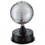 Globo 28005 Dance Diskokugel Schwarz 18xLED