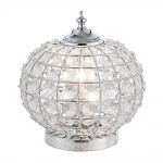 LeuchtenDirekt 11100-17 Bolly Tischleuchte + Acrylkristalle E27 60W Chrom