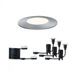 Paulmann 3er-Set LED Plug & Shine Bodeneinbaustrahler Floor IP65 4000KK 93950