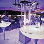 Moree Lounge Table Outdoor / Stehtisch / 105 cm / Dekolampe Aussen