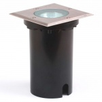 Konstsmide 7608-000 Energiespar Bodeneinbaustrahler eckig Edelstahl klares Glas