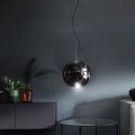 s.LUCE Sphere 40 rauchige Pendelleuchte in Grau Pendellampe Glaslampe Glaskugel
