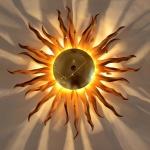 s.LUCE Diator L geschmiedete Sonne Ø 50cm rost gold Wandlampe Deckenlampe