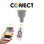 GU10 LED-Leuchtmittel Connect / 5W / RGB+CCT Bluetooth WIFI APP IOS Android
