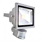 LED-Fluter / 30W Strahler + Sensor / 2.800 lm / 6.000 K / silber