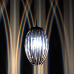 s.LUCE Amoca Hängeleuchte mit Lichteffekt / Hängelampe Schwarz, Chrom
