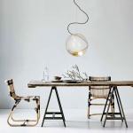 s.LUCE Glaskugel Sphere 30 mit loser Fassung Goldfarben Glaslampe Hängelampe