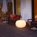 Moree Granit Bubble Outdoor Tisch oder Hocker Dekolampe Aussen