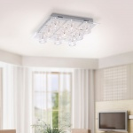 LeuchtenDirekt 50395-21 Oki-Bubble LED Deckenleuchte / 9 x G4 14W + 9 x LED 0, 36W / RGB / Silberfarb