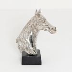 Holländer 320 3504 Pferdekopf Purosangue Aluminium Silber-Schwarz