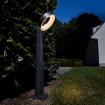 Lutec Meridian LED-Wegeleuchte IP44 800lm Anthrazit