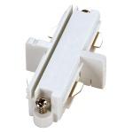 SLV 143091 Längsverbinder für 1-Phasen HV-Stromschiene weiss elektrisch