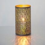 Holländer 257 3528 M Windlicht Punti Mittel Metall Braun-Gold
