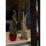 Konstsmide 3535-900TR LED Metallleuchter gebürstet 12 warmweisse Dioden 3V Innentrafo
