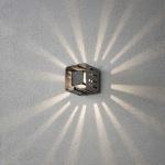 Konstsmide 7978-370 Pescara LED Aussen-Wandleuchte Anthrazit klares Acrylglas