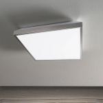 Fabas Luce 3272-65-178 Vichy LED Deckenleuchte 2450lm Deckenlampe Nickel-Satiniert
