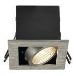 SLV 115706 Kadux LED Single DL Set Alu-Gebürstet 38° 3000K inkl. Treiber