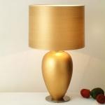 Holländer 039 K 1241 V Tischleuchte Omega Spesso Grande Keramik-Metall BlattverGoldet-Vernickelt