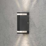 Konstsmide 7518-750 Modena Aussen-Wandleuchte mit doppeltem Lichtkegel / Schwarz, klares Acrylglas