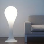 next Drop_4 Stehleuchte H: 100cm Liquid-Light Weiss Stehlampe