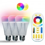 Starter-Set 3x E27 iLight LED + Fernbedienung / RGB+CCT LED Leuchtmittel Lampe