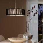 s.LUCE Twine M Stoff-Hängelampe höhenverstellbar / Stofflampe Schwarz