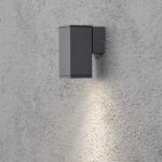 Konstsmide 7908-370 Monza Aussen-Wandleuchte Anthrazit klares Glas Reflektor