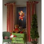 """Konstsmide 2850-000 Fensterbild """" Weihnachtsmann"""", 20 klare Birnen für Innenbereich"""