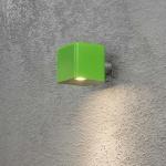 Konstsmide 7681-600 Amalfi LED Aussen-Wandleuchte inkl. Trafo 12V Grün