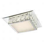 Margo Deckenleuchte LED / quadratisch, Spiegelrand, mit Sterneffekt / 1200 Lumen