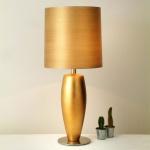 Holländer 039 K 1237 V Tischleuchte Omega Sottile Grande Keramik-Metall BlattverGoldet-Vernickel