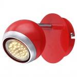 Globo 57885-1 Oman Strahler Metall rot Chrom GU10 LED