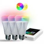Starter-Set 3x E27 iLight LED + WiFi-Box RGB+CCT LED Leuchtmittel Lampe