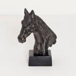 Holländer 320 3502 Pferdekopf Purosangue Aluminium Antik-Schwarz